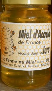 Miel d'acacia du Jura - Pot de miel d'acacia la Ferme au Miel