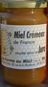 Miel crémeux du Jura - pot de miel La Ferme au Miel