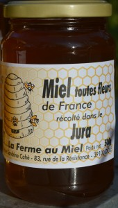 Miel du toutes fleurs du Jura - Pot de miel La Ferme au Miel