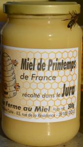 Miel de printemps du Jura - pot de miel La Ferme au Miel
